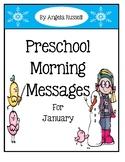 Preschool Morning Messages - January Set