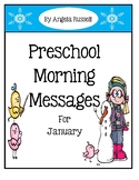 Preschool Morning Messages ~ January Set
