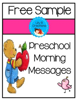 Preschool Morning Messages - Free Sample Pages