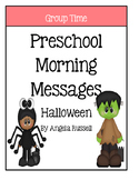 Preschool Morning Messages - Halloween Set