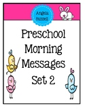 Preschool Morning Messages -Set 2
