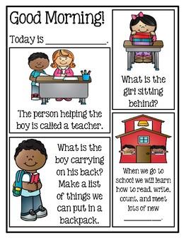 Preschool Morning Messages - When I Go To Kindergarten