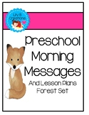 Preschool Morning Messages With Lesson Plans - Forest Set