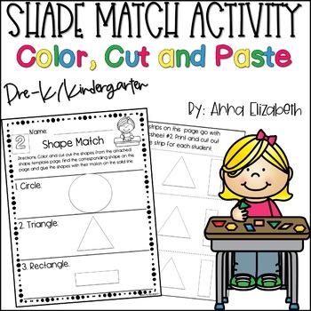 Preschool Morning Work Shape Match Activity