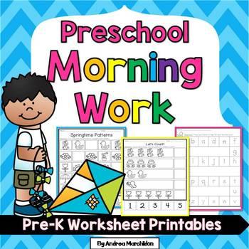 Preschool Morning Work - April/Springtime