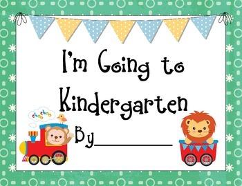 Preschool Moving to Kindergarten Book and Bookmarks