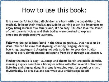 Preschool Music Book with Printable Take Home