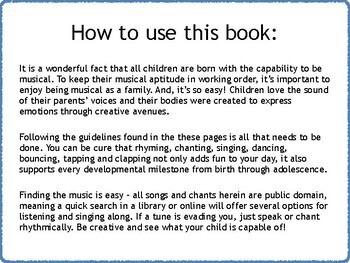 General Music Lesson Plans for Preschool II