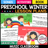 PreK Winter Music Lesson Plans - Song and Poems for Winter
