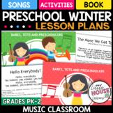 PreK Winter Music Lesson Plans - Somg and Poems for Winter