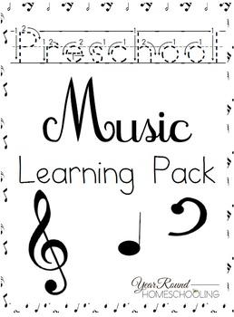 Preschool Music Worksheets by Year Round Homeschooling | TpT