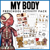 Preschool: My Body Theme Learning Pack