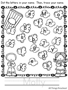 Preschool; Name Practice; Dot & Write ***CUSTOMIZED for your class!***