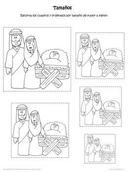 Spanish Nativity Worksheets Hojas de Trabajo Nacimiento Navidad Preescolar