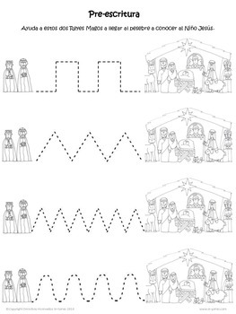Preschool Nativity Worksheets in Spanish Hojas de Trabajo
