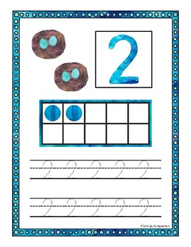 Numbers 1-10 Counting and Tracing Mats