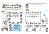 Preschool Newsletter (A4), Colour, Cute, Template - JUNE