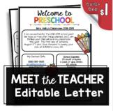 Preschool Newsletter - Meet the Teacher - Open House - Back to School