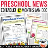 Preschool Newsletter Templates EDITABLE Parent Communicati