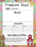 Preschool Newsletters With Home Activities