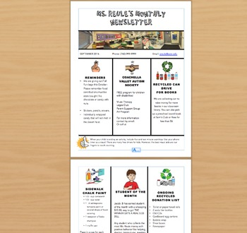 Preschool Newsletter Word template