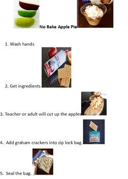 Preschool No Bake Apple Pie freebie