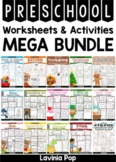 Preschool No Prep Worksheets and Activities MEGA BUNDLE