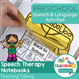 #Nov2018slpmusthave Preschool Notebooks for Speech and Language