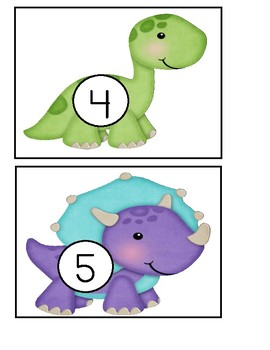 Preschool - Number Activity With Dinosaurs