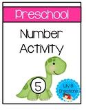 Preschool - Number Activity With Dinosaurs