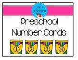 Preschool Number Cards - Freebie #4