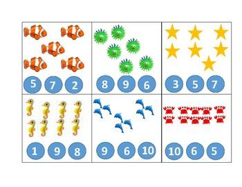 Preschool Number Clip