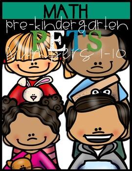 Prekindergarten  Number Coloring Book