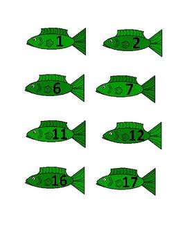 Preschool Number Fish Matching Activity