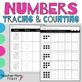 Preschool Number Practice 0-9 {Counting, Tracing, and Numb