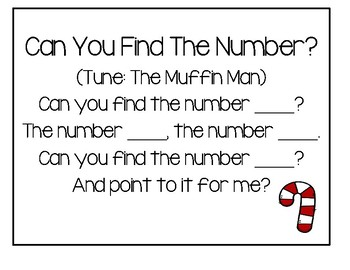 Preschool - Number Review For Christmas