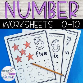 Preschool Number Worksheets 1-10