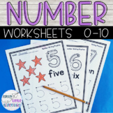 Back to School Preschool Number Worksheets 1-10