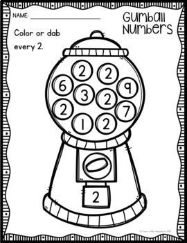 Preschool Number Worksheets 1-10 by Every Little Adventure ...