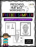 Preschool Number Worksheets { SAMPLER }