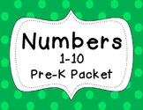 Preschool Numbers 1-10 Packet