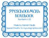 Preschool Numbers 1-20 Notebook