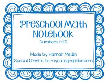 Preschool Numbers 1-20 Notebook