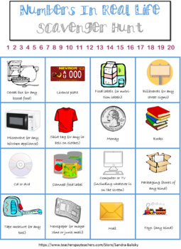 Preschool Numbers and Letters Scavenger Hunt