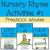 Preschool Nursery Rhyme Activities #1