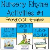 Preschool Nursery Rhyme Activities #1- Water/ Ocean