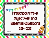 Preschool Objectives and Essential Questions