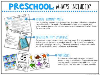 Preschool: Ocean {Plans and Printables}