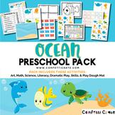 Ocean Activities Preschool (color and black & white version)