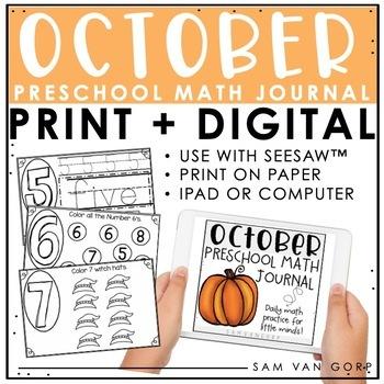 Preschool Math Journal Teaching Resources | Teachers Pay Teachers